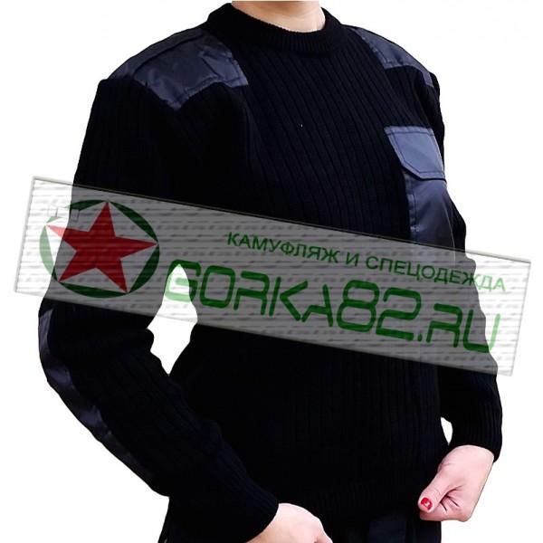 Форменный мужской свитер (черный)