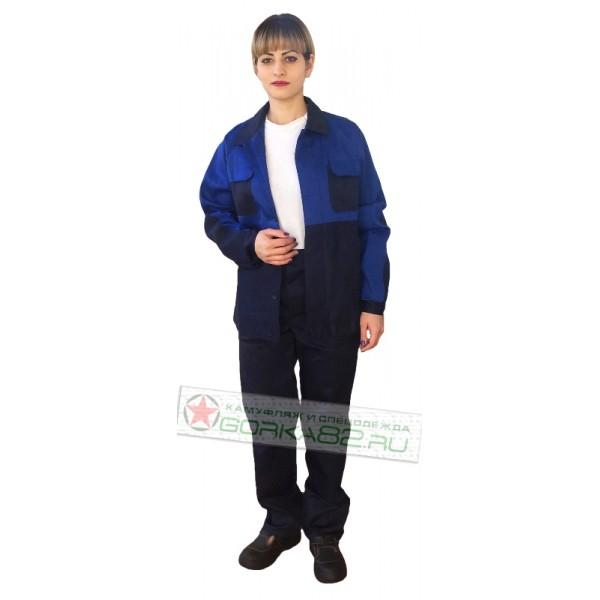 Рабочий костюм (синий+василек)